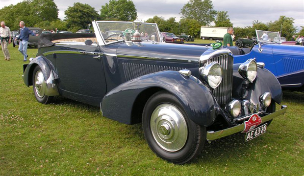 Bentley 4 1/4 Drophead Coupé parked at show